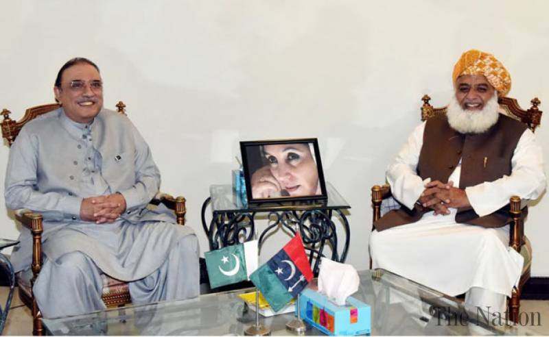 Asif Zardari and Fazlur Rehman discuss alliance